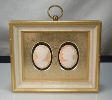 Vintage Framed Carved Shell Cameos    53707