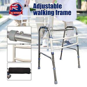 Adjustable Height Folding Aluminium Walking Frame Medical Walker Mobility AU M