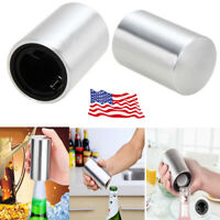 2Pack: Automatic  Stainless Steel Beer Opener For Party Bar Bottle Soda Cap Wine