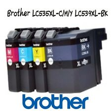4pk.Genuine Brother Ink Cartridges LC539XL LC535XL,DCP-J100 DCP-J105/MFC-J200Oem