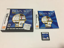 Brain Age 2: More Training in Minutes a Day (Nintendo DS, 2007) Complete