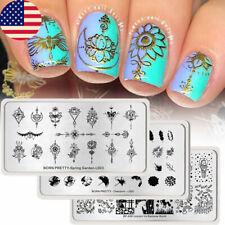 3Pcs/Set BORN PRETTY Nail Stamping Plates Kit  Stamp Templates Set Tools DIY