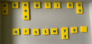 21 x Letter Replacement Tiles for Junior Scrabble. See pic & text for letters. #