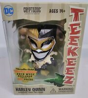Metallic Gold Harley Quinn DC Teekeez Vinyl Figure NYCC Exclusive Limited to 300