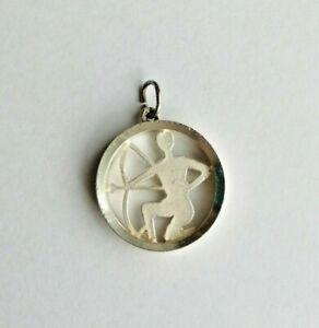 Anhänger mit Sternzeichen SCHÜTZE 925 Silber matt selten (1352)