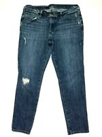 Ann Taylor LOFT Relaxed Skinny Jeans Pants in Bright Mid Vintage Wash Sz 27 28
