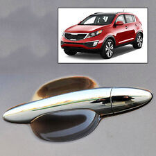 FIT FOR 2011~ 2015 KIA SPORTAGE CHROME DOOR HANDLE CATCH COVER TRIM MOLDING