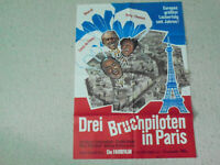 Louis De Funes, Drei Bruchpiloten in Paris  - Original Filmplakat A1