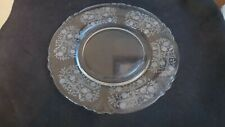 "4 Heisey Glass Olympiad Pattern Luncheon Plates 7 3/4"" Circa 1930's"