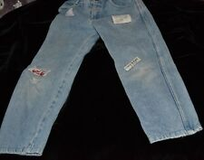 Vintage 80's BABY GUESS JEANS Children Size 6 Youth Fade Ripped Original Patches