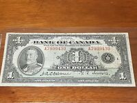 A7909430 $1 1935 Bank of Canada FIRST Note Bill BC-1a - Circulated. Nice colours