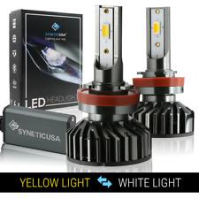 H11/H9/H8 120W LED Fog Light Kit Bulbs Switchback Dual Color Yellow/6000K White