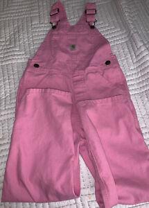 Girls Carhartt Pink Jean Bib Cover Overalls Farm Farmer - Size 6