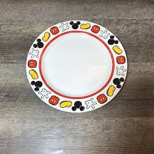 Disney Theme Parks Best Of Mickey Mouse Body Parts Dinner Plate Hard to Find