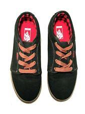 Vans Low Top Pro Black/Gum Skateboarding Shoes Classic Youth Size 7