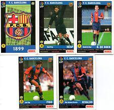 Lote cromos LFP Mundicromo de Marca. F. C. Barcelona (Barça). Liga 98-99
