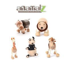 Rhino-Panda-Mustang-Giraffe-Bruins All Natural Anamalz Toy Farm Animals 5PC New