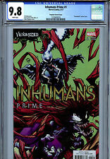 Inhumans Prime #1 (2017) Marvel CGC 9.8 White Pages Stegman Venomized Variant
