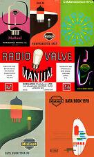 Mullard Data Books - Collection of 10 Vacuum Tube/Valve & Semiconductor Data