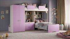 Etagenbett Geko XXL - Pink mit Schrank und Kommode