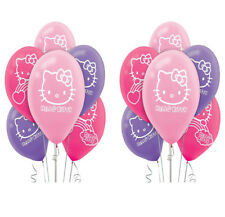 Hello Kitty Rainbow Latex Balloons Girls Birthday Party Decoration Supplies 12ct