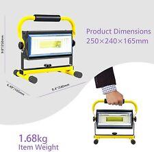 Sylstar COB LED Work Light, 100W Rechargeable Portable Floodlight 7000