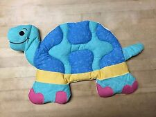 Children's wall decor, set of 3 quilted fabric animals, bright colors