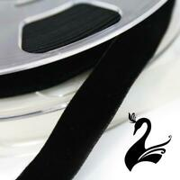 Ribbon - Velvet Elasticated Stretch Ribbon 16mm (Price per 1m) - Sewing Craft...
