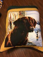 New Handmade Chocolate Labrador Retriever Quillow (Pillow w/ 6ft quilt inside!)