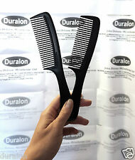 "Hair Comb Black with Handle Small 7.5"" Handled Comb wet and dry hair UK 2 COMBS"
