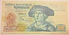 500 Francs 1971 500 Frank 1971 Belgique Belgïe Van Orley  1971