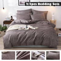 3DLuxury Duvet Cover with Pillow Case Quilt Cover Bedding Set Single Double  !*