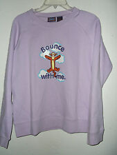 NEW size M jr cut TIGGER SWEAT SHIRT BY DISNEY BOUNCE WITH ME