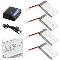 4x 3.7V 1200mAh 25C Lipo Battery + 4 in 1 USB Battery Charger For Syma X5S BC591