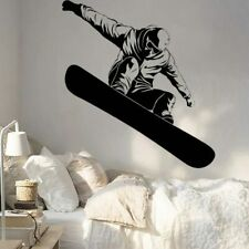 Snow boarding Vinyl Wall Decal Winter Extreme Sports Mural Interior Stickers