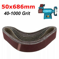 50x686mm Sanding Belt Abrasive Belt For Metal Wood Grinding Sander 40~1000 Grit