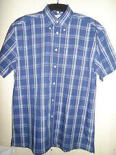 Ben Sherman Azul Marino Camisa a Cuadros Talla M