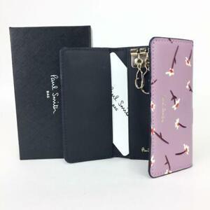 Paul Smith Key Case Flower Pattern Purple Women 'S Purse Card F/S From JP