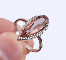 SULTAN CHANGING COLOR STONE .925 SOLID STERLING SILVER RING SIZE 8 #22719
