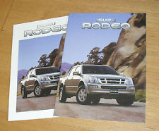Isuzu Rodeo 4X4 Double Cab Brochure & Specification Guide 2004-2005