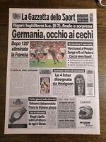 LA GAZZETTA DELLO SPORT N.151 DEL 27 GIUGNO 1996 - GERMANIA FINALE (GS7)