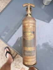 VINTAGE BRASS PYRENE FIRE EXTINGUISHER With Mounting bracket