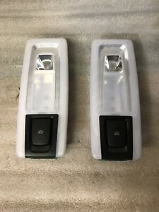 2014-2018 BMW X5 F15 Rear Roof Dome Light Lamp Left Right Set Pair OEM 14032616