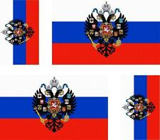 4 x adesivo adesivi sticker bandera moto auto bandiere vinyl russia royal