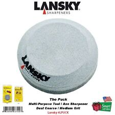 Lansky The Puck Multi-Purpose Tool/Axe Sharpener, Dual Coarse/Medium Grit #LPUCK