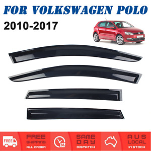 Weather shields Window Visors Weathershields For Volkswagen VW Polo 2010 to 2017