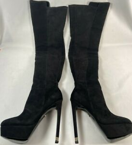 Kurt Geiger - Vegas - Black Suede - High Leg Healed Boots 6222200209 - Size UK 6