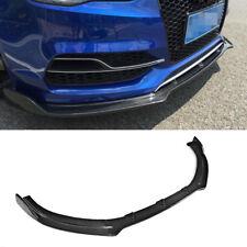 Front Bumper Chin Lip Spoiler Refit for Audi A3 Sline S3 Sedan14UP Carbon Fiber