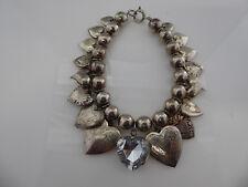 Vintage Valentines Day Lots of Heart Lockets Bracelet