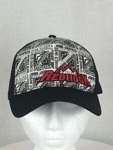 Redhook Brewery Black Mesh Trucker Hat Snapback Baseball Cap Liquid Goodness